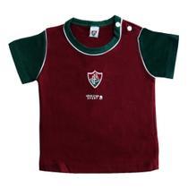 Camiseta revedor fluminense bicolor unissex grená branco e verde -