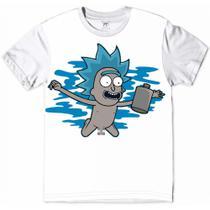 Camiseta Rick And Morty Rickzinho Nirvana Banda Rock - Ydias