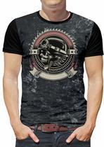 Camiseta Rock Caveira Moto Masculina Roupas blusa Infantil - Alemark