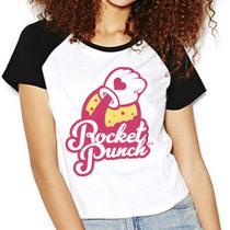 Camiseta Rocket Punch Kpop BIM BAM BUM Raglan Babylook - Eanime