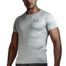 Camiseta Rudel Muscle Dry Masculino Prata - Tamanho P -
