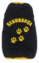 Camiseta Segurança Para Cães Cor Preto Tamanho M - Nica Pet