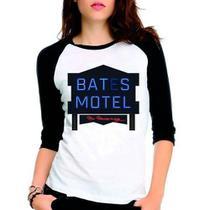 Camiseta Série Bates Motel Raglan Babylook 3/4 - Eanime