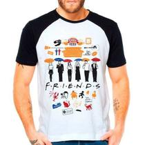 Camiseta Série Friends Central Perk Raglan Manga Curta - Eanime
