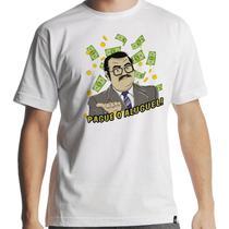 Camiseta Seu Barriga Pague o Aluguel Masculina Branca - Hipsters