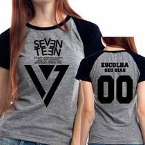 Camiseta Seventeen Escolha Seu Bias Kpop Babylook Mescla - Eanime
