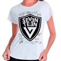 Camiseta Seventeen Integrantes Autógrafos Kpop Babylook - Eanime