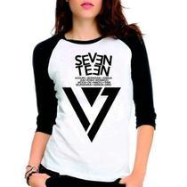 Camiseta Seventeen Membros Kpop Raglan Babylook 3/4 - Eanime