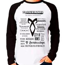 Camiseta Shadowhunters Instrumentos Mortais Raglan Longa - Eanime
