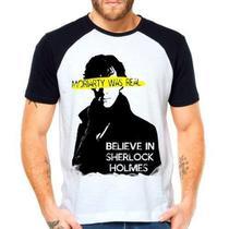 Camiseta Sherlock Holmes Moriarty Série Raglan Manga Curta - Eanime
