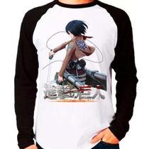 Camiseta Shingeki No Kyojin Attack On Titan V03 Manga Longa - Eanime