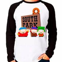 Camiseta South Park Eric Kyle Stan Kenny Raglan Manga Longa - Eanime