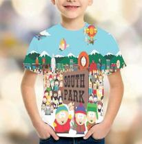 Camiseta South Park Série Estampa Total Infantil - Playgamesshop