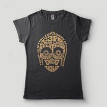 Camiseta Star Wars Feminina C3Po Camisa Disney - Lojadacamisa
