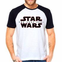 Camiseta Star Wars The Last Jedi Filme Raglan Manga Curta - Eanime
