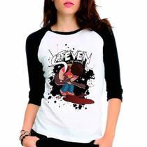 Camiseta Steven Universe Raglan Babylook 3/4 - Eanime