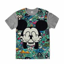 Camiseta Sticker Bomb Mickey Mouse - Ydias