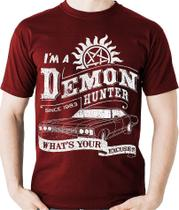 Camiseta Supernatural Hunter Sobrenatural Geek Camisa Blusa
