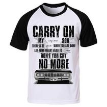 Camiseta Supernatural Sobrenatural Carry On Wayward Son - Eanime