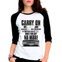 Camiseta Supernatural Spn Carry On Raglan Babylook 3/4 - Eanime