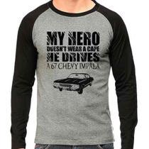 Camiseta Supernatural Spn Impala 67 Raglan Mescla - Eanime
