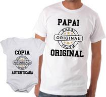 Camiseta t-shirt adulta masculina e body de bebê unissex - Calupa
