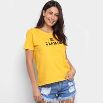 Camiseta T-Shirt Carmim Estampada Manga Curta Feminina -