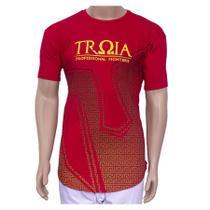 Camiseta T-shirt  Esportiva Troia Sport- Ufc Mma Muay Thai Luta VERMELHA GG -