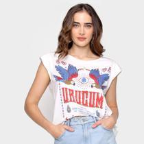 Camiseta T-shirt Farm Urucum Ombreira Feminina -
