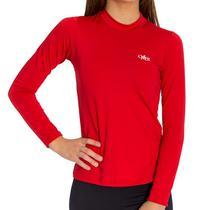 Camiseta Térmica Manga Longa Feminina Vermelha - Mprotect