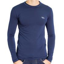 Camiseta Térmica Manga Longa Masculina Azul Marinho - Mprotect