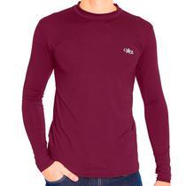 Camiseta Térmica Manga Longa Masculina Bordo - Mprotect