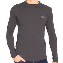 Camiseta Térmica Manga Longa Masculina Chumbo - Mprotect