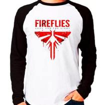 Camiseta The Last Of Us Fireflies Raglan Manga Longa - Eanime