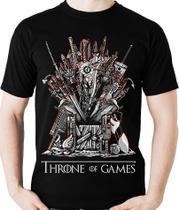 Camiseta Throne of Games Parodia Geek Gamer Camisa Blusa - Game Of Thrones
