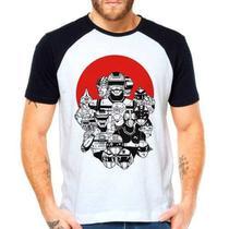Camiseta Tokusatsu Jaspion Jiban Changeman Raglan Curta - Eanime