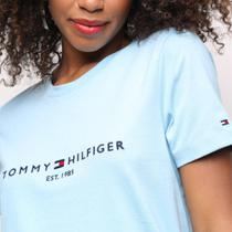 Camiseta Tommy Hilfiger Básica Logo 1985  Feminina -