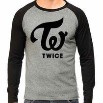 Camiseta Twice Kpop Raglan Mescla - Eanime