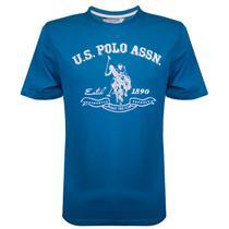 Camiseta U.S. Polo Estampada Austin Azul - Uspa