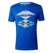 Camiseta Umbro Grêmio Torcedor Flag Masculina - Azul -