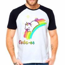 Camiseta Unicórnio Cute Raglan Manga Curta - Eanime