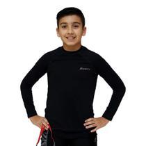 Camiseta UV Protection Just Fit Infantil Manga Longa Raglan / Preto / 4 -