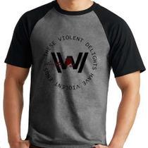 Camiseta Westworld V2 Série Raglan Mescla Curta - Eanime
