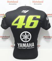 Camiseta Yamaha Valentino Rossi VR 46 Moto GP Dry Fit Preta C3 -