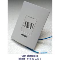"""Campainha Eletrônica Residencial Embutir em Caixa 4x2"""" Bivolt - Multicraft"""