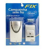 Campainha Sem Fio 32 Toques Alcance 100 Metros - Ref: FXA0102 Com pilha - Fix