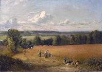 Campo de Trigo (1816) - John Constable - Tela 50x71 Para Quadro - Santhatela