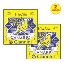 Canario kit 2 jogos de cordas violao aço sem bolinhas Gesw Giannini -