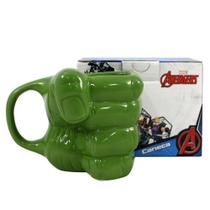 Caneca 3d Marvel Mao Hulk 350ml - Zc