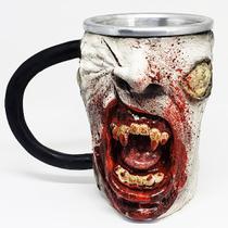 Caneca 3d resina vampiro zumbi blood 350ml - Pdv